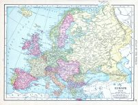 Europe, World Atlas 1913